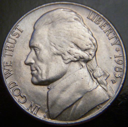 1983-D Jefferson Nickel - VF to AU