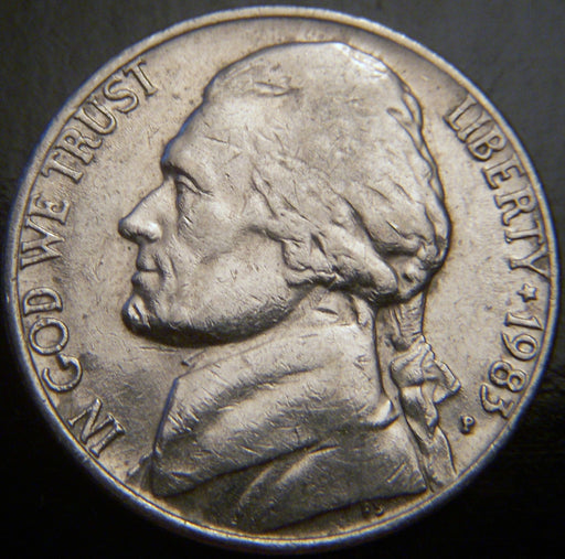1983-P Jefferson Nickel - VF to AU