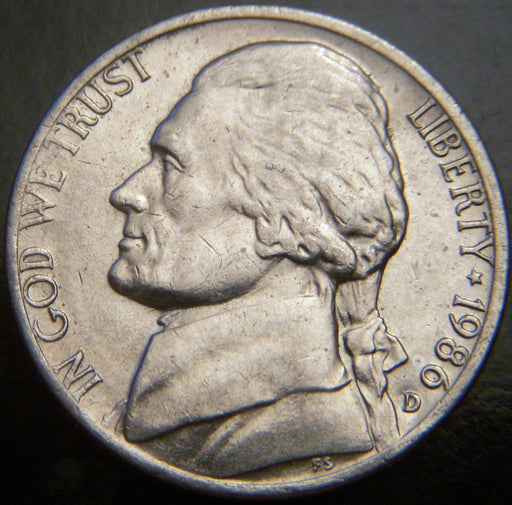 1986-D Jefferson Nickel - VF to AU