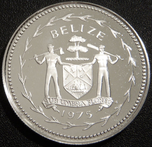 1975 Twenty Five Cents Silver Proof - Belize