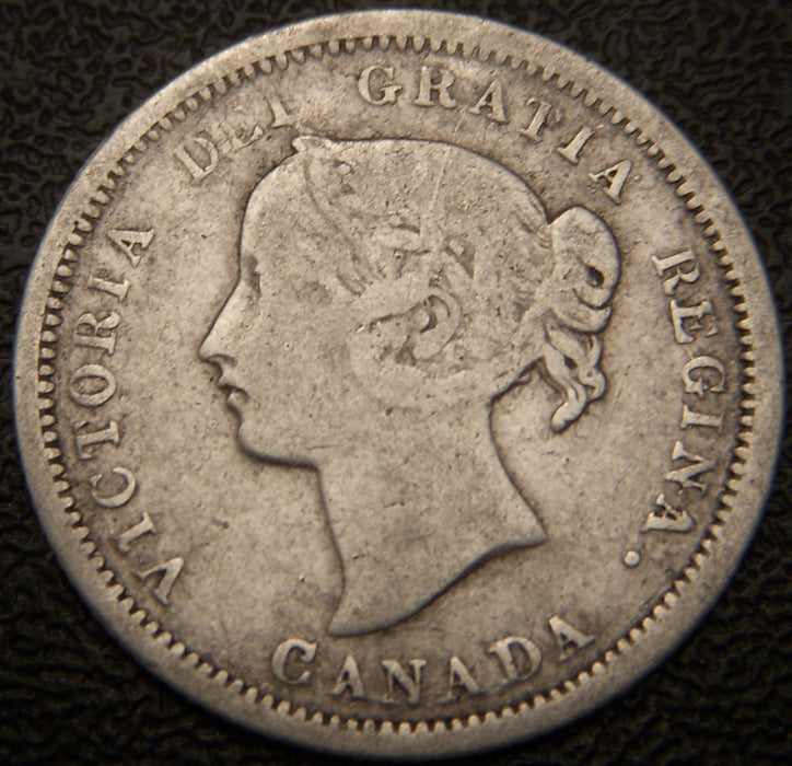 1870 Canadian Silver Five Cent - Flat Rim