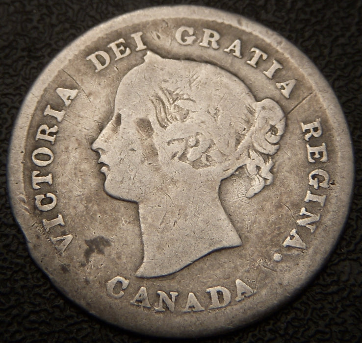 1872H Canadian Silver Five Cent - VG