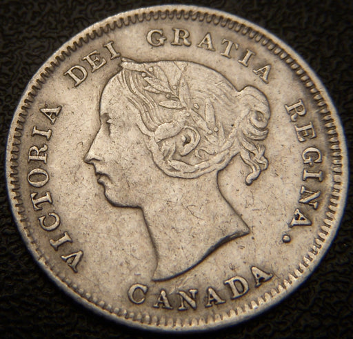 1883H Canadian Silver Five Cent - EF