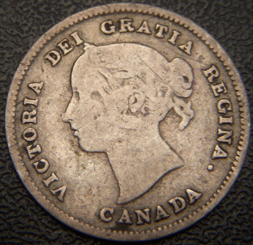 1891 Canadian Silver Five Cent - VG/F