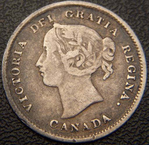 1892 Canadian Silver Five Cent - VF