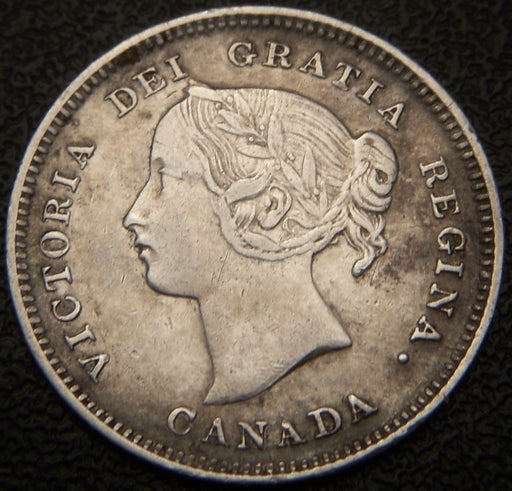 1893 Canadian Silver Five Cent - EF