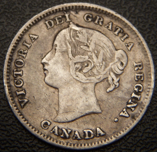 1893 Canadian Silver Five Cent - VF