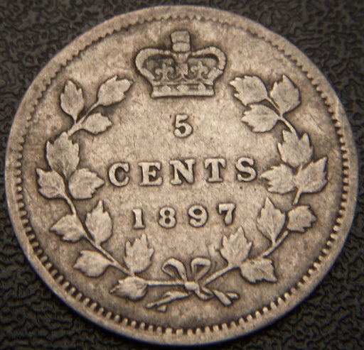 1897 Canadian Silver Five Cent - VF