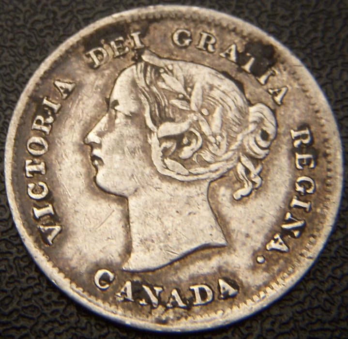 1898 Canadian Silver Five Cent - VF+