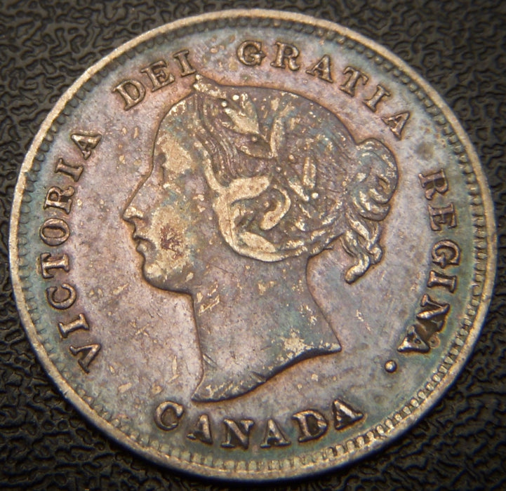 1899 Canadian Silver Five Cent - EF