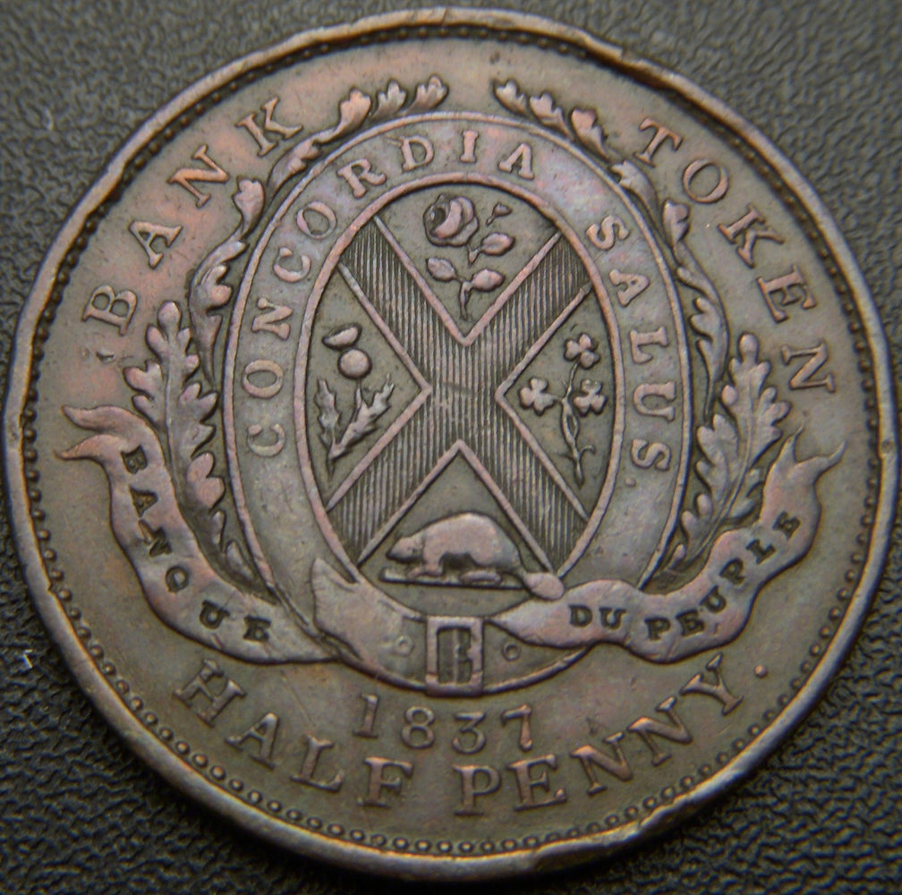 1837 Half Penny Du Peuple Bank Token