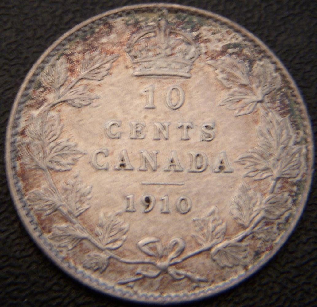 1910 Canadian Ten Cent - VF