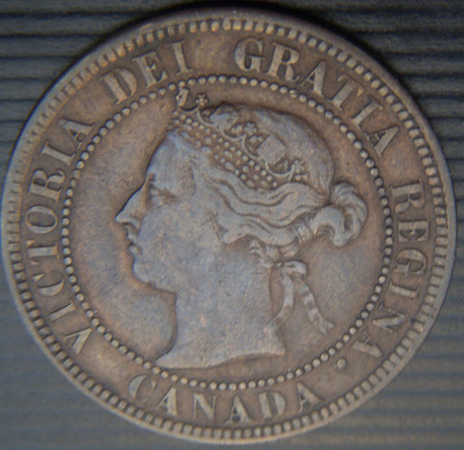 1884 Canadian Large Cent - VF