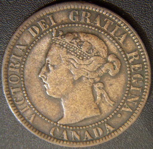 1893 Canadian Large Cent - Fine