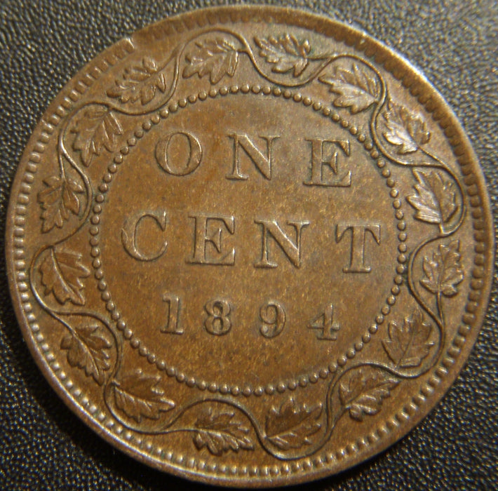 1894 Canadian Large Cent - AU