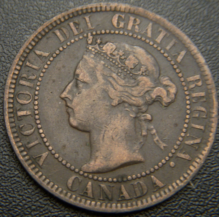 1901 Canadian Large Cent VG/F
