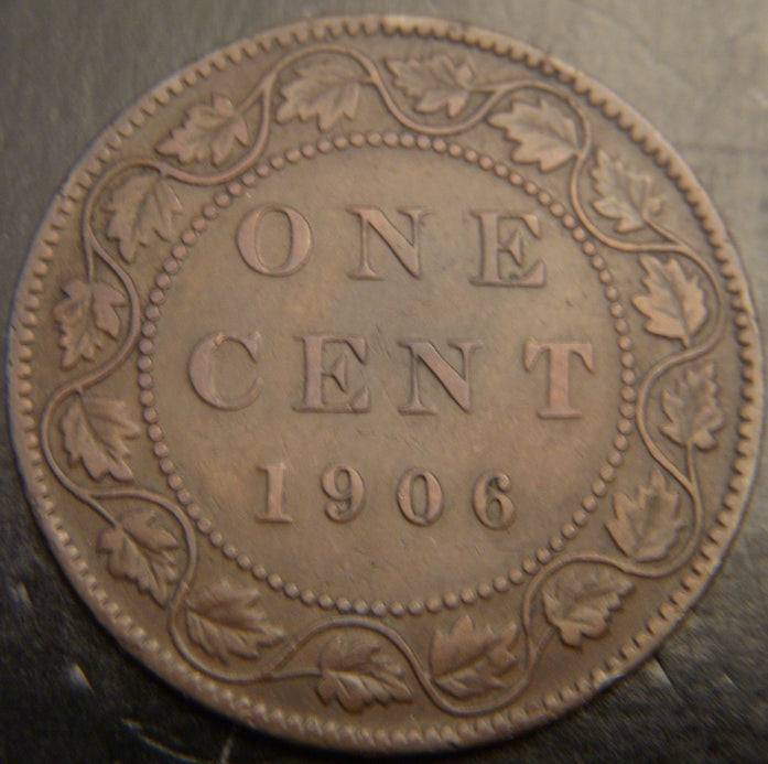 1906 Canadian Large Cent  VG/F