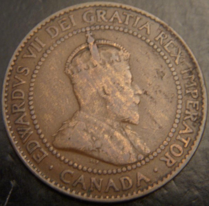 1909 Canadian Large Cent - VG/F