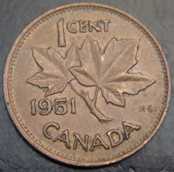 1951 Canadian Cent - VG/Fine