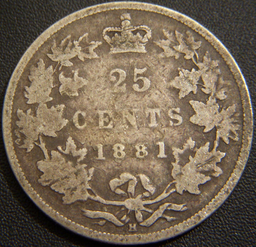 1881H Canadian Quarter
