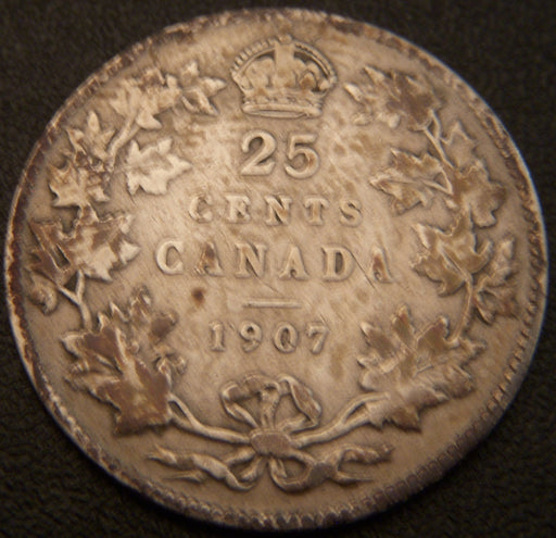 1907 Canadian Quarter - VG