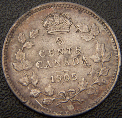 1905 Canadian Silver Five Cent - VF