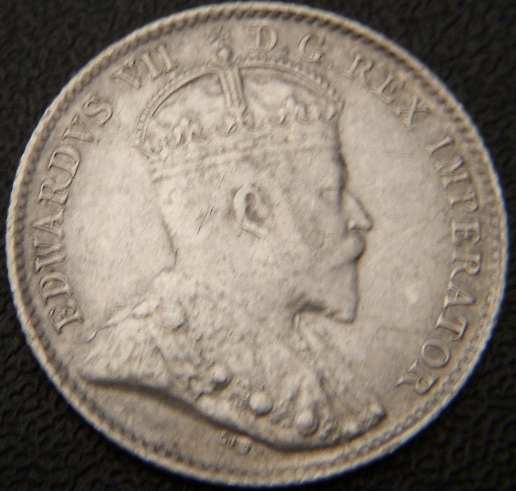 1906 Canadian Silver Five Cent - EF