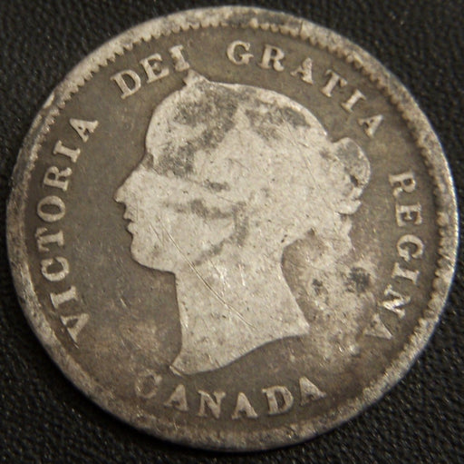 1872H Canadian Silver Five Cent - Good
