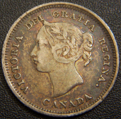 1880H Canadian Silver Five Cent - Very Fine