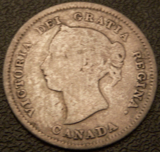 1880H Canadian Silver Five Cent - G
