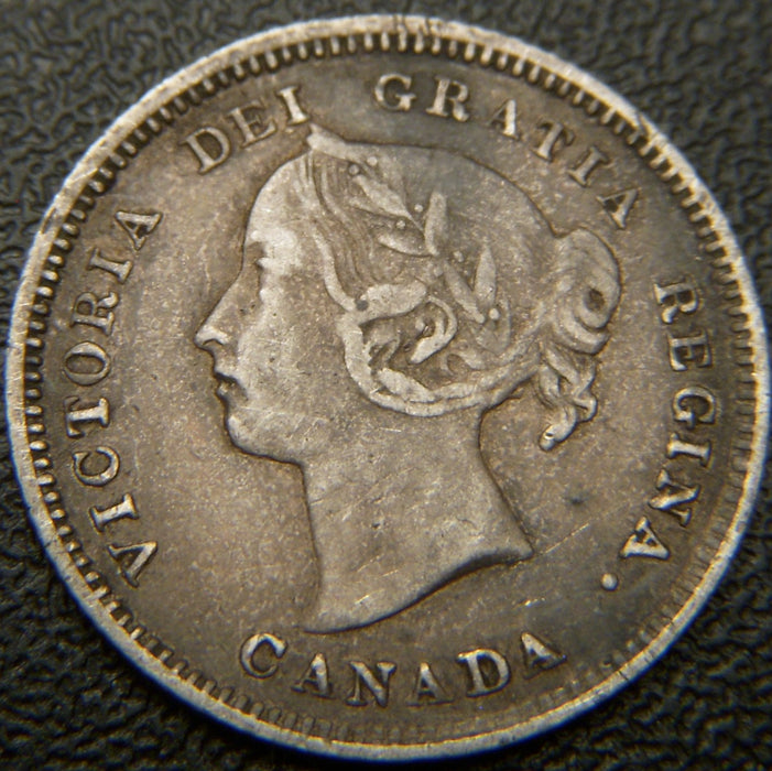 1886 Canadian Silver Five Cent - LG6 - VF