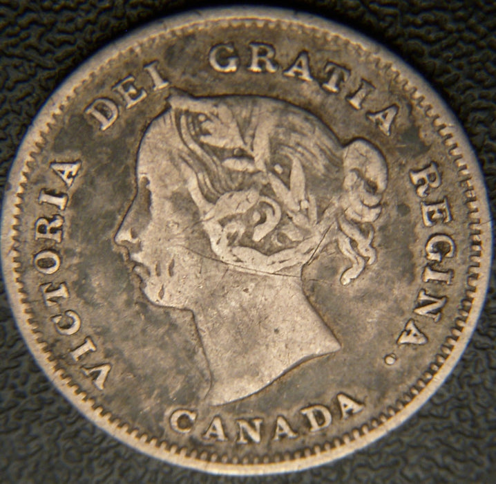 1891 Canadian Silver Five Cent - Fine