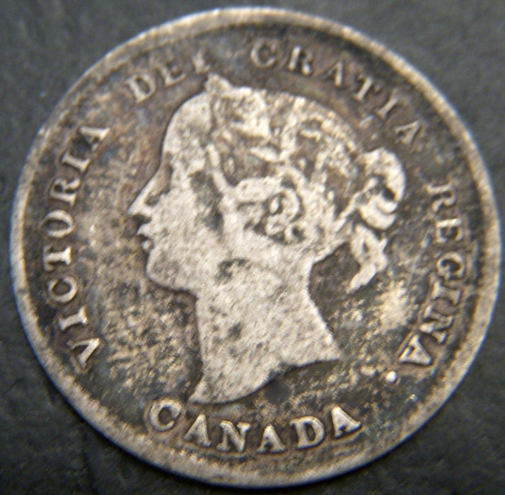 1893 Canadian Silver Five Cent - VG