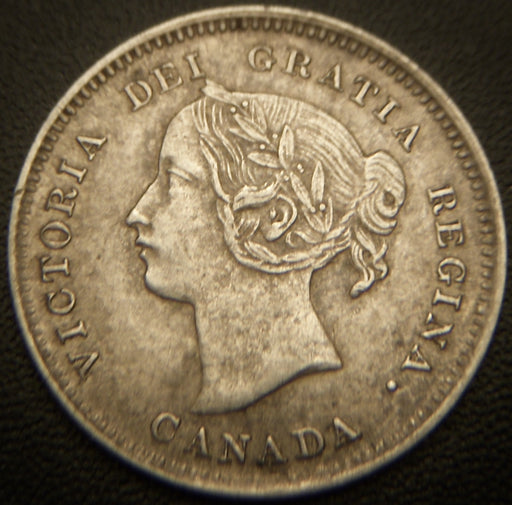1893 Canadian Silver Five Cent - AU/Unc.