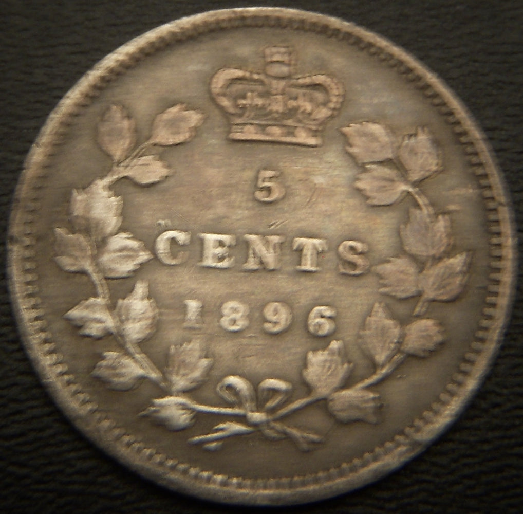 1896 Canadian Silver Five Cent - VF