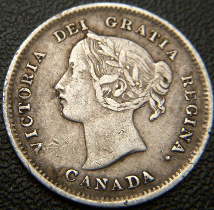 1898 Canadian Silver Five Cent - VF