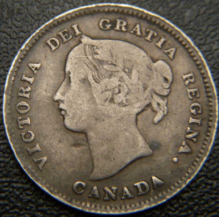 1899 Canadian Silver Five Cent - Fine