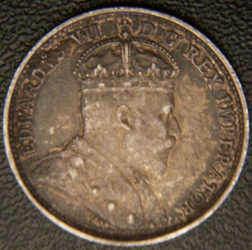 1908 Canadian Silver Five Cent - VF