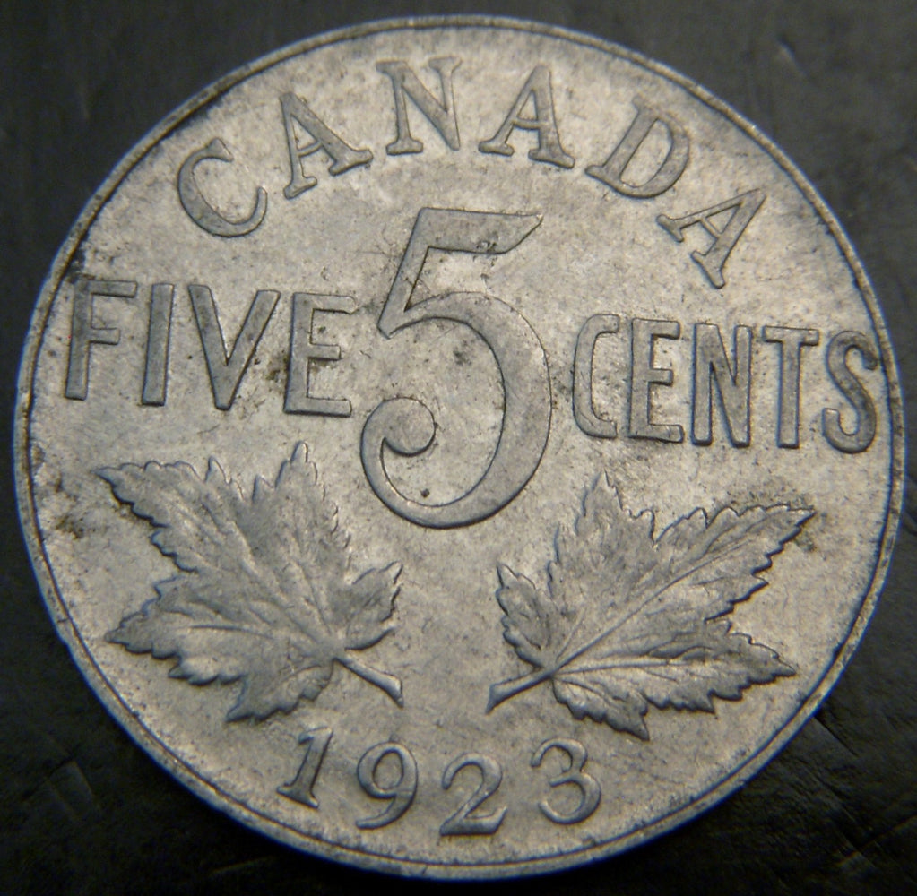 1923 Canadian Five Cent - VG/Fine