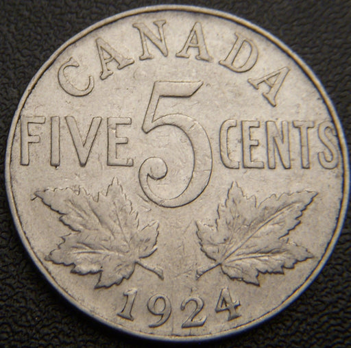 1924 Canadian Five Cent - VG/Fine
