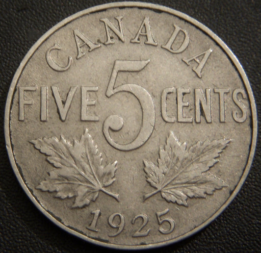 1925 Canadian Five Cent - Very Fine