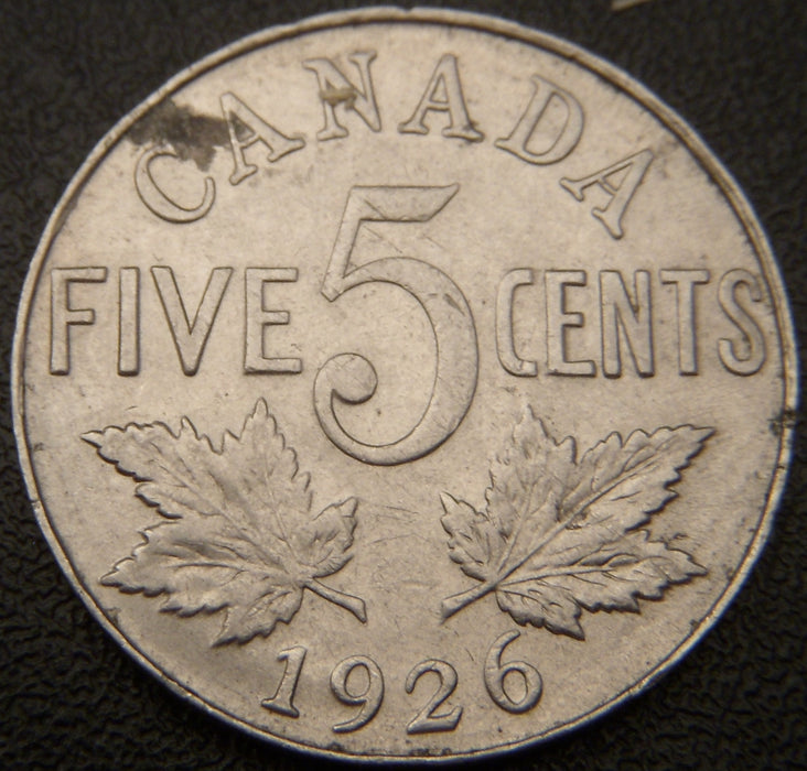 1926 Canadian Five Cent N6 EF