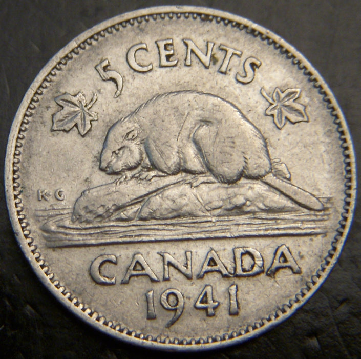 1941 Canadian 5C - Fine to EF