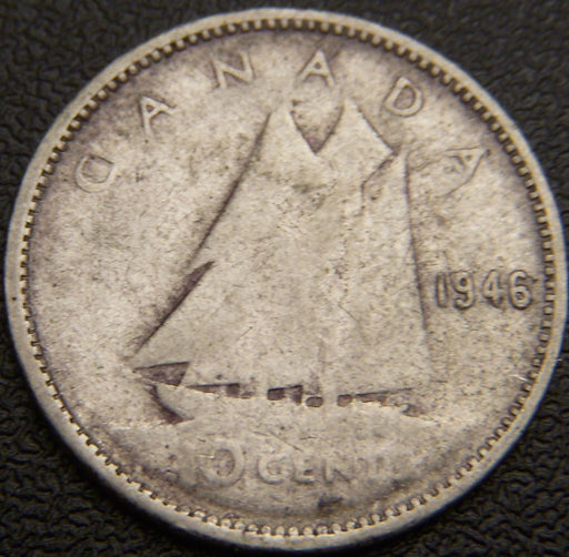 1946 Canadian 10C - VG/Fine+