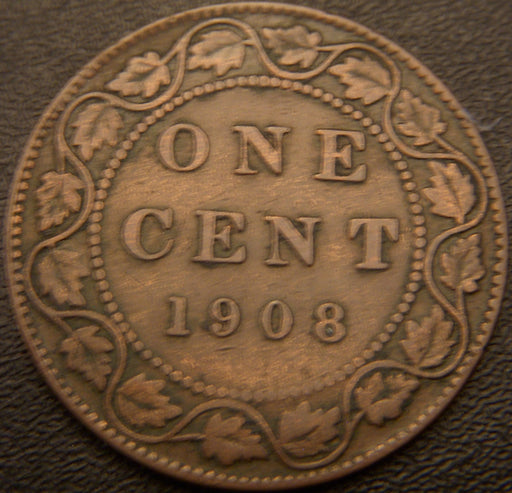 1908 Canadian Large Cent VG-F