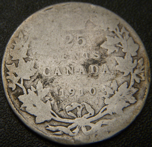 1910 Canadian Quarter - Good