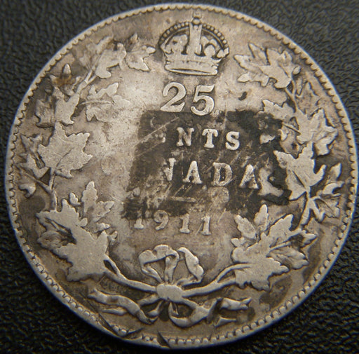 1911 Canadian Quarter - Fine