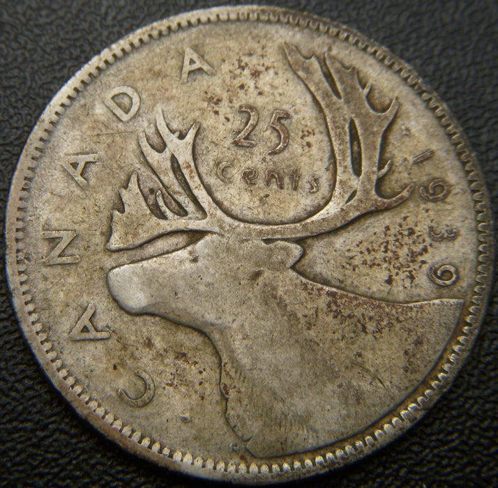 1939 Canadian Canadian Quarter - VG to VF