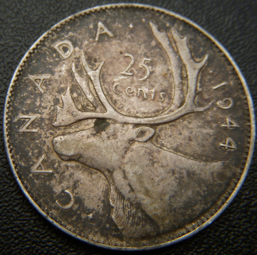 1944 Canadian Quarter - VG to VF
