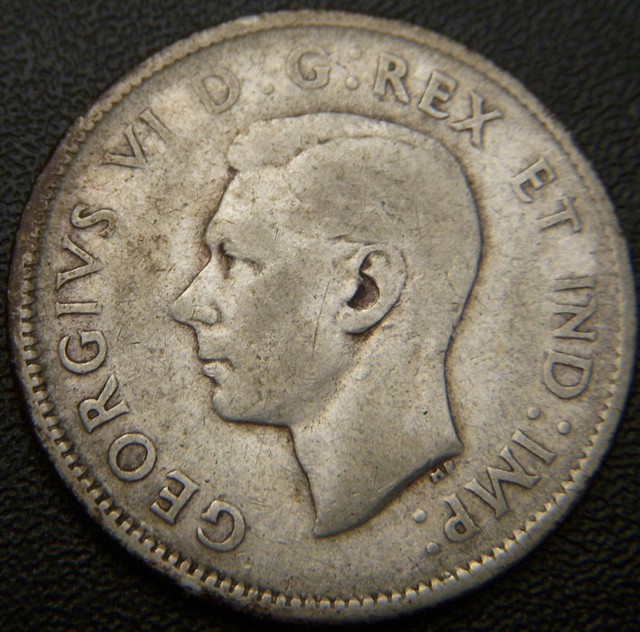 1946 Canadian Quarter - VG to VF